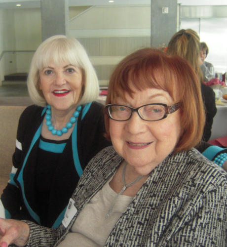 Betty Finkel, left, and Barbara Miller enjoy good company at WWW