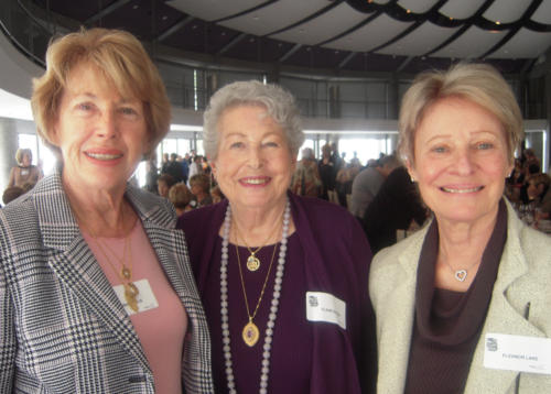 More WWW attendees, from left, Bobbe Tadelis, Elaine Berman, and Eleanor Lake.