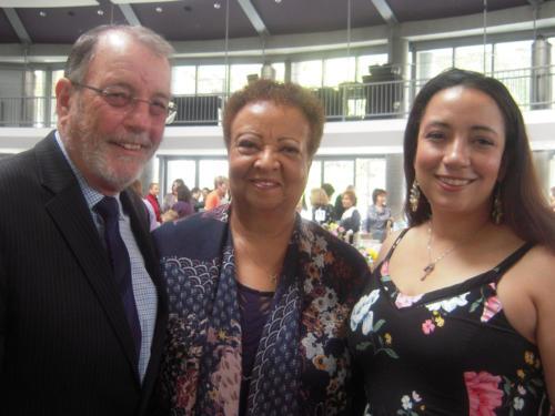 Les Wieder, Tyree Wieder and daughter Shavonne.